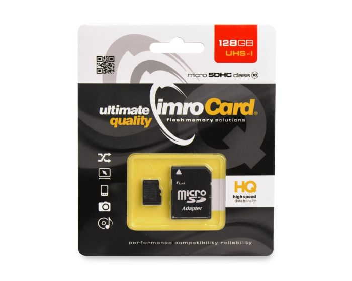 Imro Memory Card microSDHC 128GB - Class 10 with Adapter