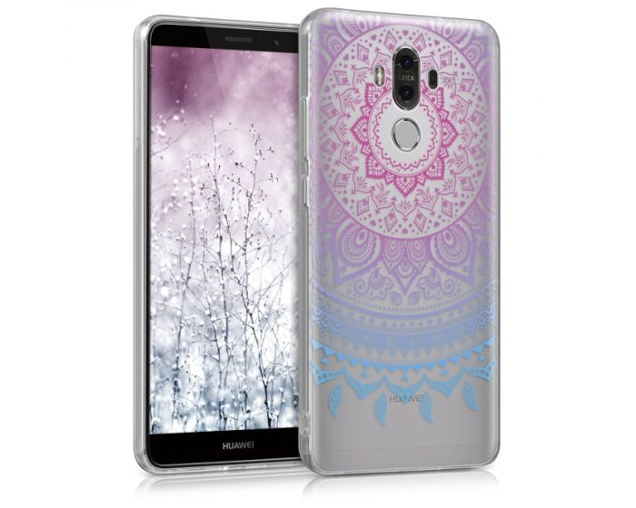 KWmobile Slim Fit Gel Case Indian Sun (40276.02) Θήκη Σιλικόνης Μπλε / Ροζ / Διάφανη (Huawei Mate 9)
