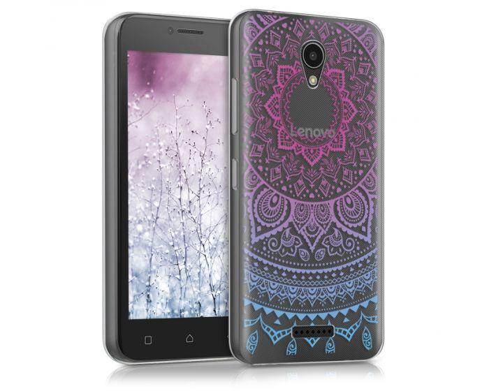 KWmobile Slim Fit Gel Case Indian Sun (40511.01) Θήκη Σιλικόνης Μπλε / Ροζ / Διάφανη (Lenovo Vibe B)