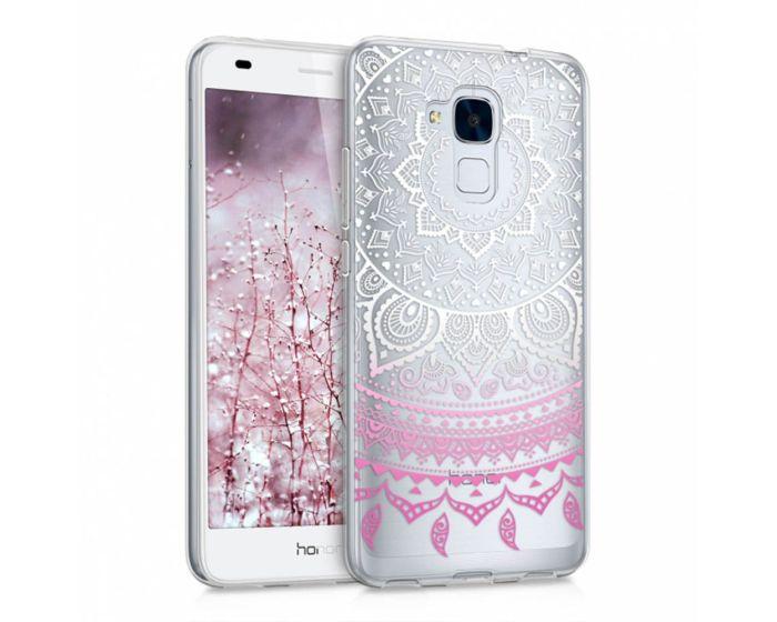 KWmobile Slim Fit Gel Case Indian Sun (39112.33) Θήκη Σιλικόνης Ροζ Διάφανη (Huawei Honor 5C / Huawei Honor 7 Lite)