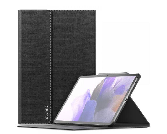 Infiland Classic Book Case Θήκη με Δυνατότητα Stand - Black (Samsung Galaxy Tab S7 FE 5G 12.4)