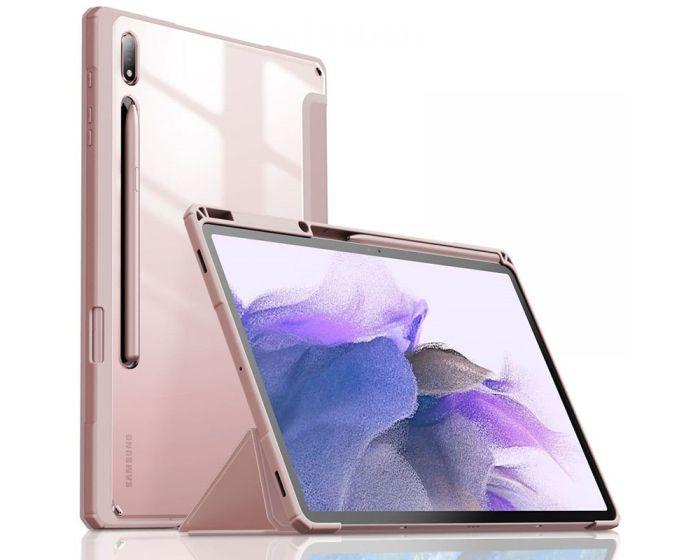 Infiland Crystal Book Case Θήκη με Δυνατότητα Stand - Pink (Samsung Galaxy Tab S7 FE 5G 12.4)