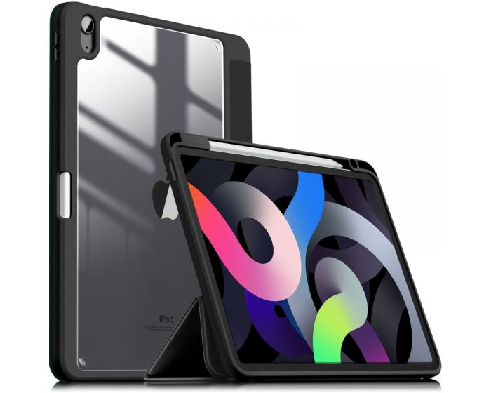 Infiland Crystal Book Case Θήκη με Δυνατότητα Stand - Black (iPad Air 4 2020)