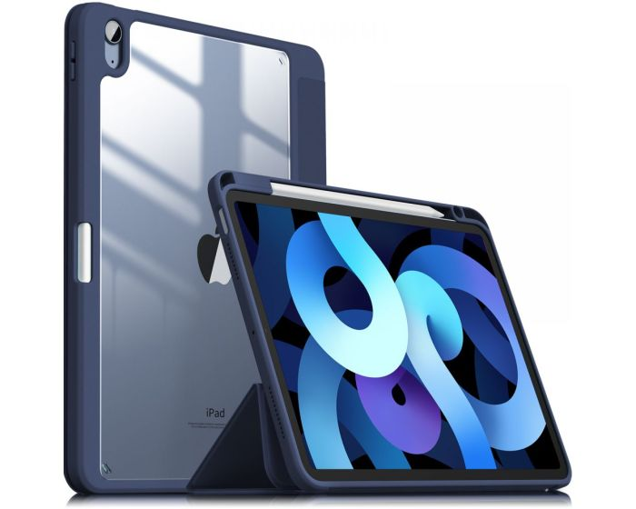 Infiland Crystal Book Case Θήκη με Δυνατότητα Stand - Navy Blue (iPad Air 4 2020)