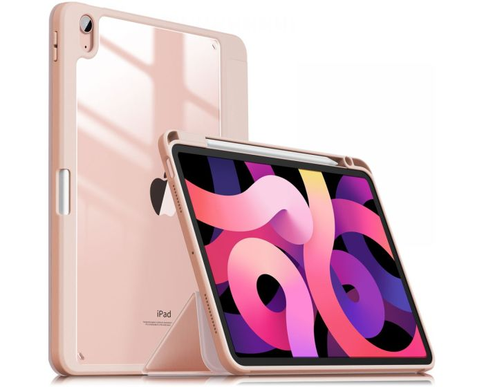 Infiland Crystal Book Case Θήκη με Δυνατότητα Stand - Pink (iPad Air 4 2020)