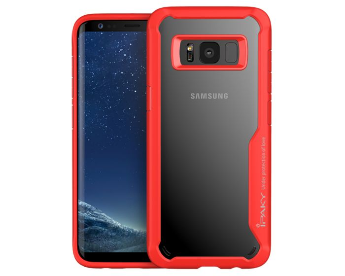 iPAKY Hybrid HD Ultra Slim Case Red (Samsung Galaxy S8 Plus)
