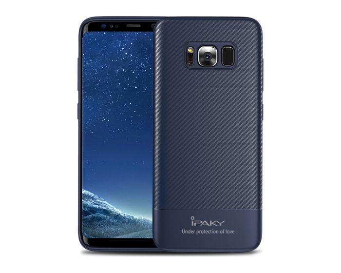 iPAKY Carbon Fiber Armor Case (26649) Blue (Samsung Galaxy S8 Plus)
