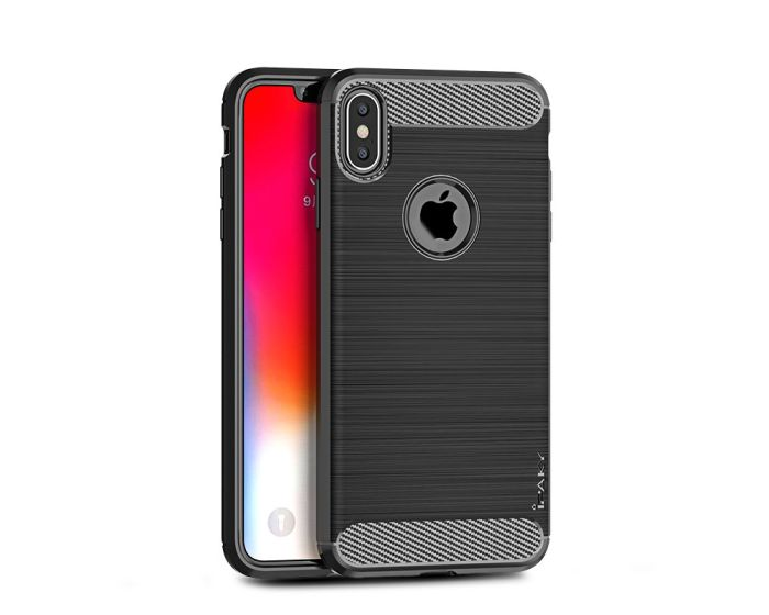 iPAKY Carbon Rugged Armor Case Black (iPhone Xs Max)