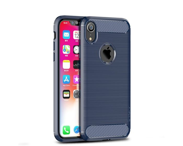iPAKY Carbon Rugged Armor Case Blue (iPhone XR)