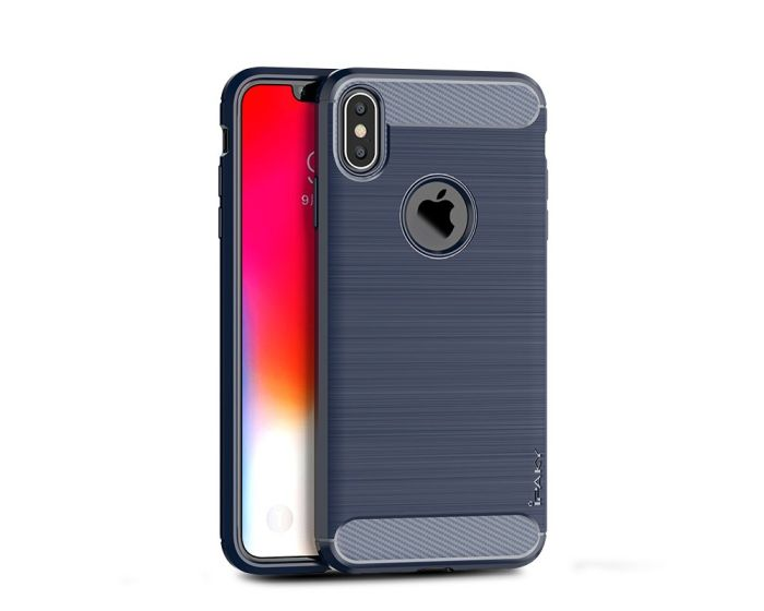iPAKY Carbon Rugged Armor Case Blue (iPhone Xs Max)