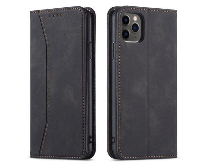 Bodycell PU Leather Book Case Θήκη Πορτοφόλι με Stand - Black (iPhone 12 Mini)