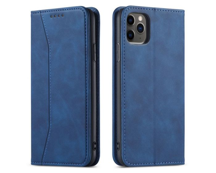 Bodycell PU Leather Book Case Θήκη Πορτοφόλι με Stand - Blue (iPhone 12 Pro Max)