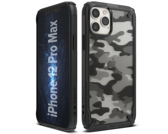 Ringke Fusion-X Σκληρή Θήκη με TPU Bumper Camo (iPhone 12 Pro Max)