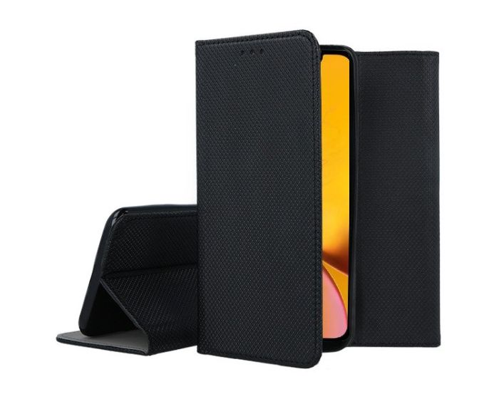 Forcell Smart Book Case με Δυνατότητα Stand Θήκη Πορτοφόλι Black (iPhone XR)