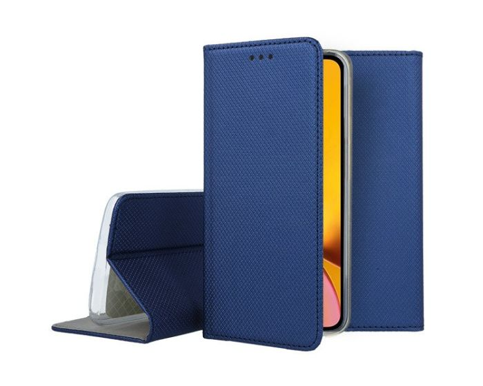 Forcell Smart Book Case με Δυνατότητα Stand Θήκη Πορτοφόλι Navy Blue (iPhone XR)