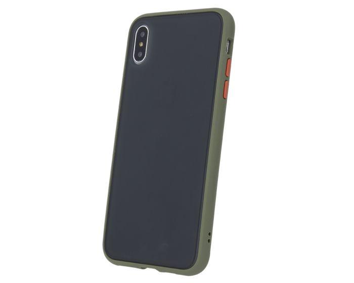 Colored Buttons Case Σκληρή Θήκη με TPU Bumper Green (Samsung Galaxy Note 10 Lite)