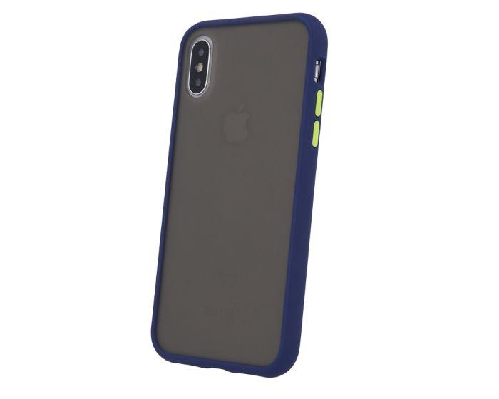 Colored Buttons Case Σκληρή Θήκη με TPU Bumper Navy Blue (Huawei Y5 2019)