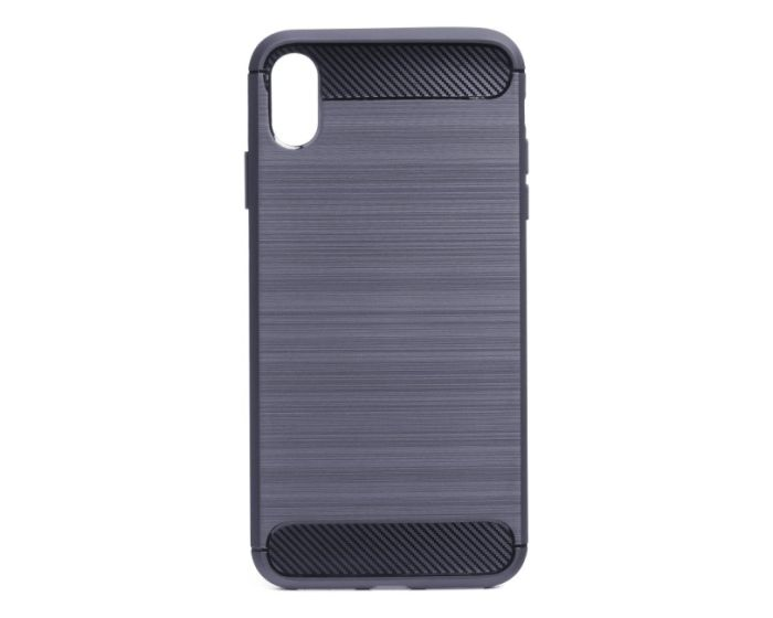 TPU Carbon Rugged Armor Case Blue (iPhone Xs Max)