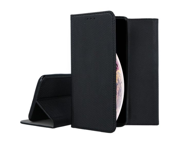 Forcell Smart Book Case με Δυνατότητα Stand Θήκη Πορτοφόλι Black (iPhone Xs Max)