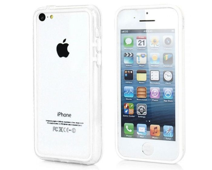 OEM Bumper Case Θήκη Πλαισίου - Λευκό (iPhone 5c)