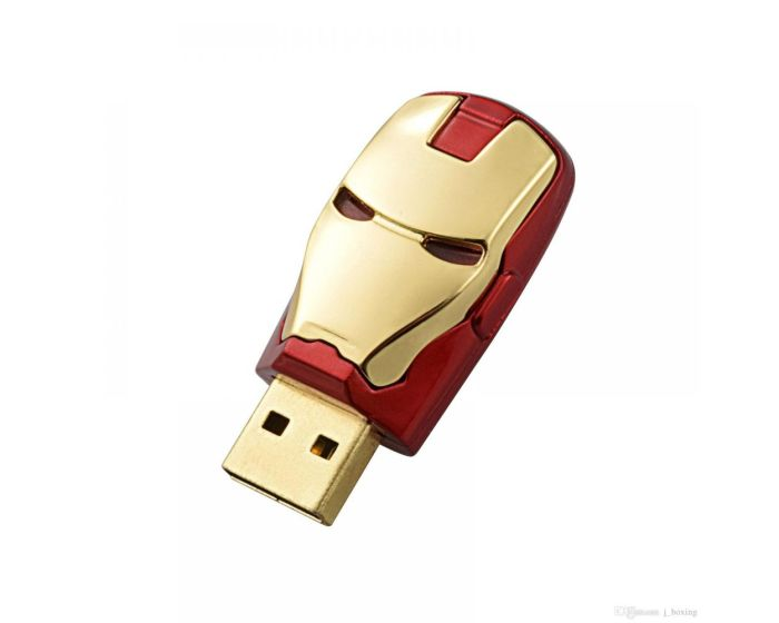 Ironman USB 2.0 Memory Stick 32GB - Gold