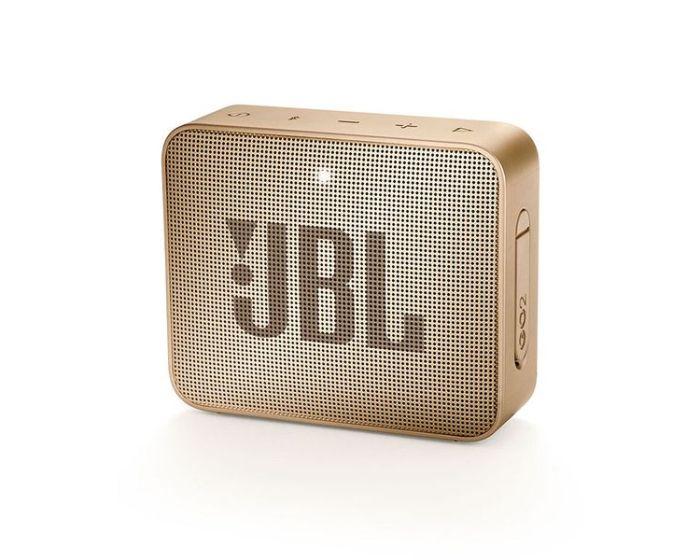 JBL Go 2 Bluetooth Speaker Αδιάβροχο Φορητό Ηχείο Champaigne