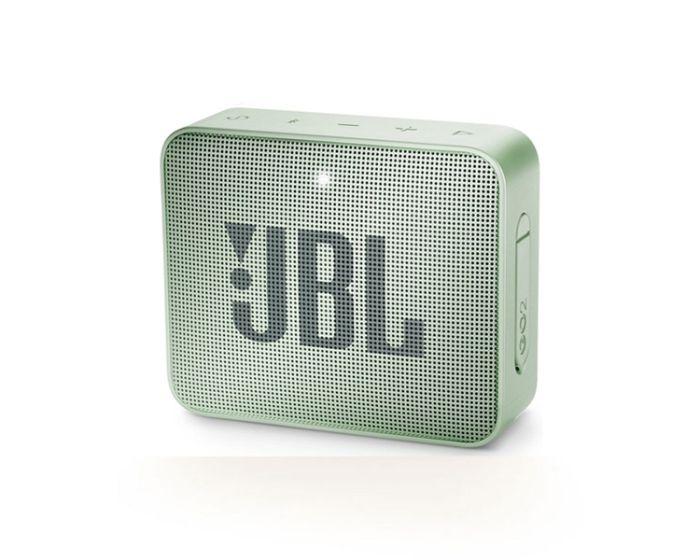 JBL Go 2 Bluetooth Speaker Αδιάβροχο Φορητό Ηχείο Mint