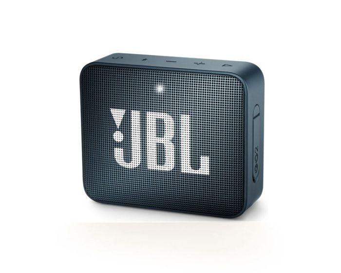 JBL Go 2 Bluetooth Speaker Αδιάβροχο Φορητό Ηχείο Navy Blue