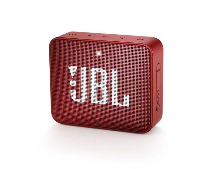 JBL Go 2 Bluetooth Speaker Αδιάβροχο Φορητό Ηχείο Red