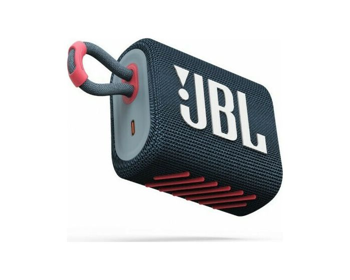 JBL Go 3 Bluetooth Speaker Αδιάβροχο Φορητό Ηχείο Blue Pink