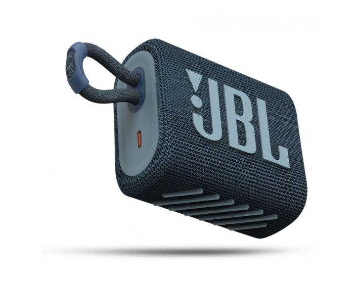 JBL Go 3 Bluetooth Speaker Αδιάβροχο Φορητό Ηχείο Blue