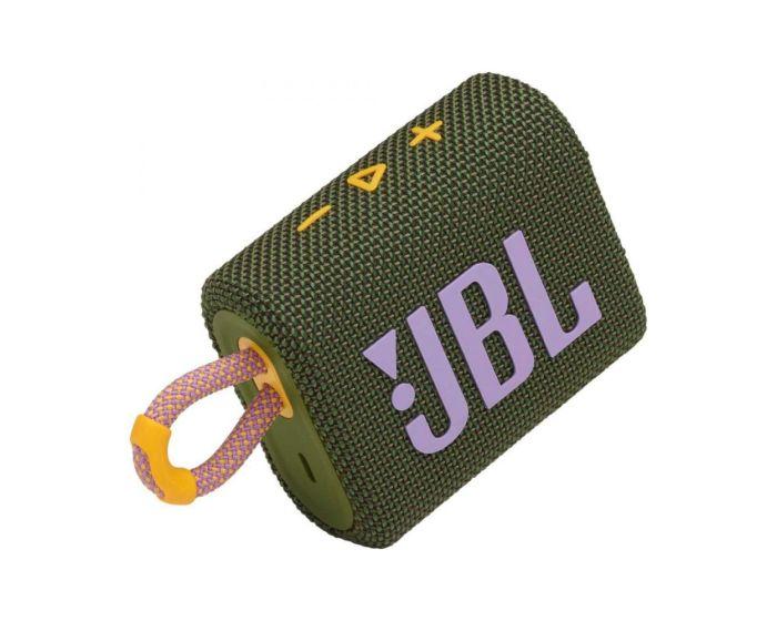 JBL Go 3 Bluetooth Speaker Αδιάβροχο Φορητό Ηχείο Green