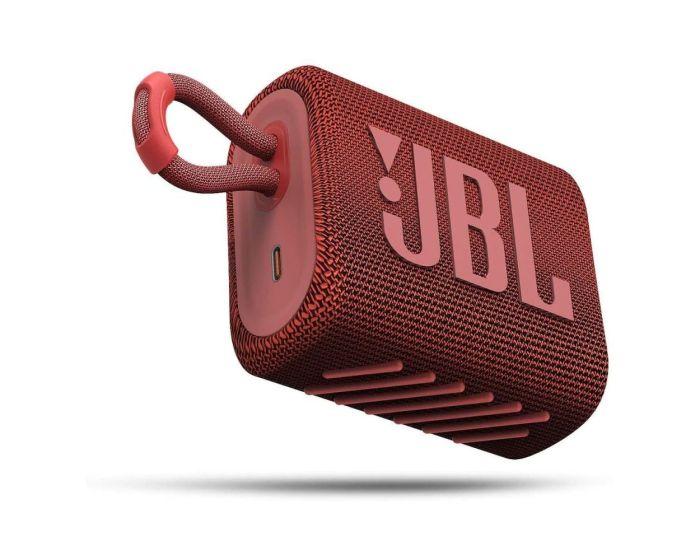 JBL Go 3 Bluetooth Speaker Αδιάβροχο Φορητό Ηχείο Red