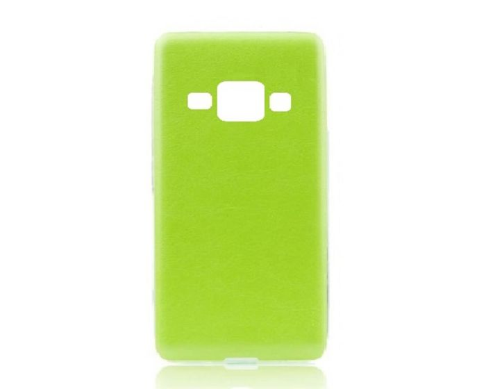 Forcell Leather Pattern Jelly Case Green (Samsung Galaxy J1)