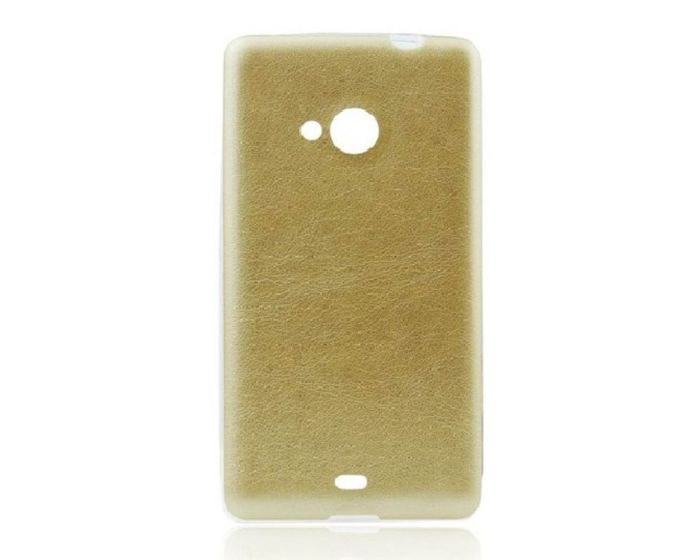Leather Pattern Jelly Case Gold (LG G4c / LG Magna)