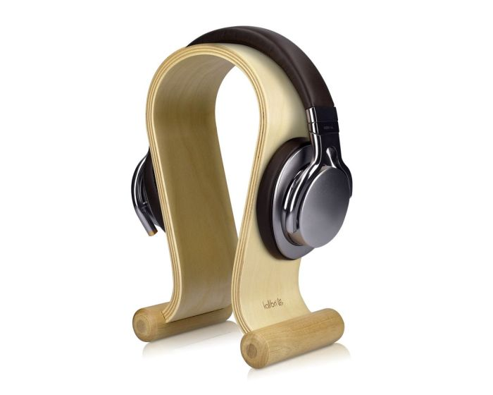 Kalibri Wooden Omega Design Headphone Stand Ξύλινη Βάση Στήριξης Ακουστικών (39069.11) Birch Wood