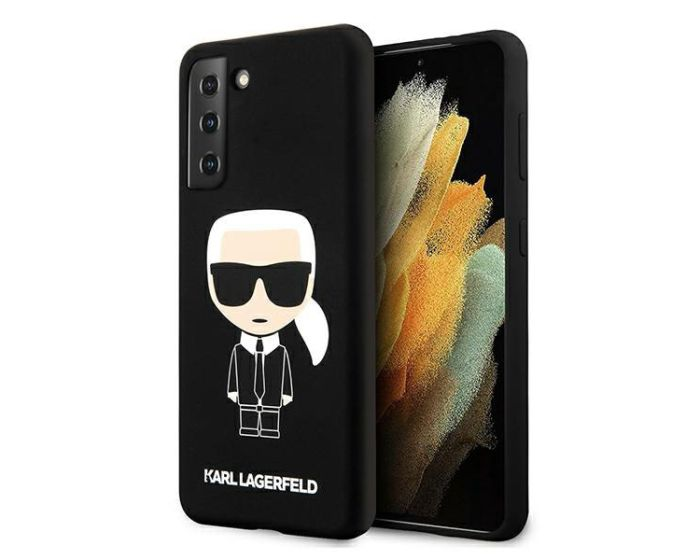 Karl Lagerfeld KLHCS21MSLFKBK Hardcase Silicone Iconic - Black (Samsung Galaxy S21 Plus 5G)