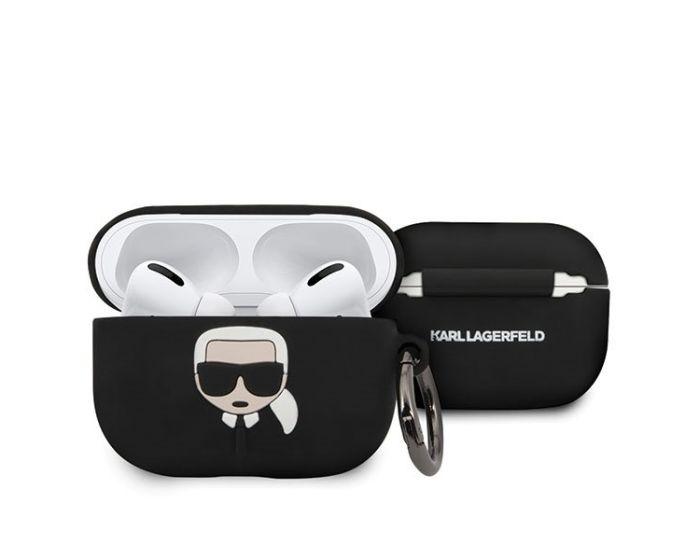 Karl Lagerfeld KLACAPSILGLBK Silicone Airpods Pro Case Θήκη Σιλικόνης για Airpods Pro - Black