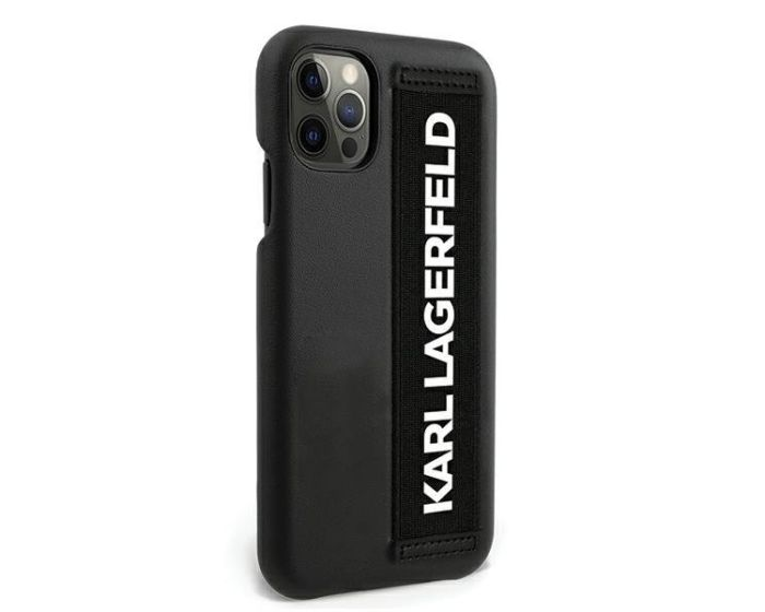 Karl Lagerfeld KLHCP12LSTKLBK Case Ανθεκτική Θήκη με Hand Strap - Black (iPhone 12 Pro Max)