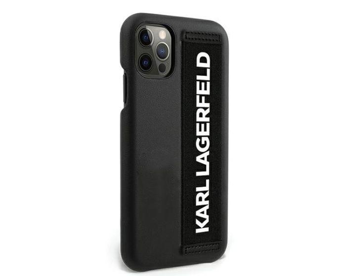 Karl Lagerfeld KLHCP12MSTKLBK Case Ανθεκτική Θήκη με Hand Strap - Black (iPhone 12 / 12 Pro)