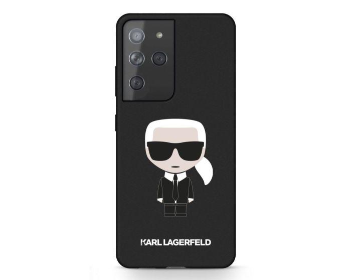 Karl Lagerfeld KLHCS21LSLFKBK Hardcase Silicone Iconic - Black (Samsung Galaxy S21 Ultra 5G)