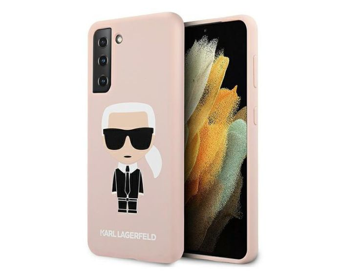 Karl Lagerfeld KLHCS21MSLFKPI Hardcase Silicone Iconic - Pink (Samsung Galaxy S21 Plus 5G)
