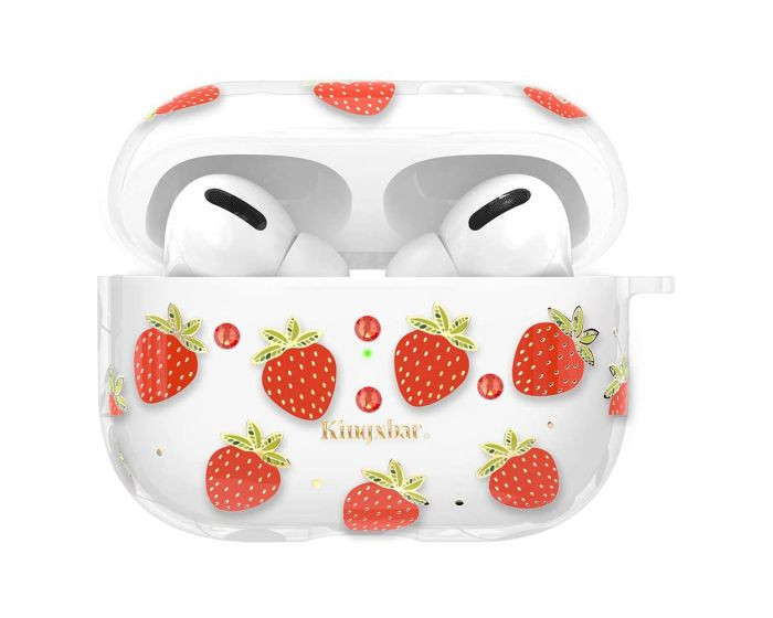 Kingxbar Silicone Protective Case για τα Apple AirPods Pro - Strawberries
