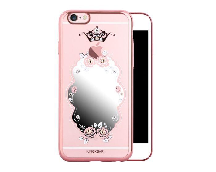 Kingxbar Lady Makeup Mirror Crown with Swarovski Elements Hard Case Rose Gold (iPhone 6 / 6s)