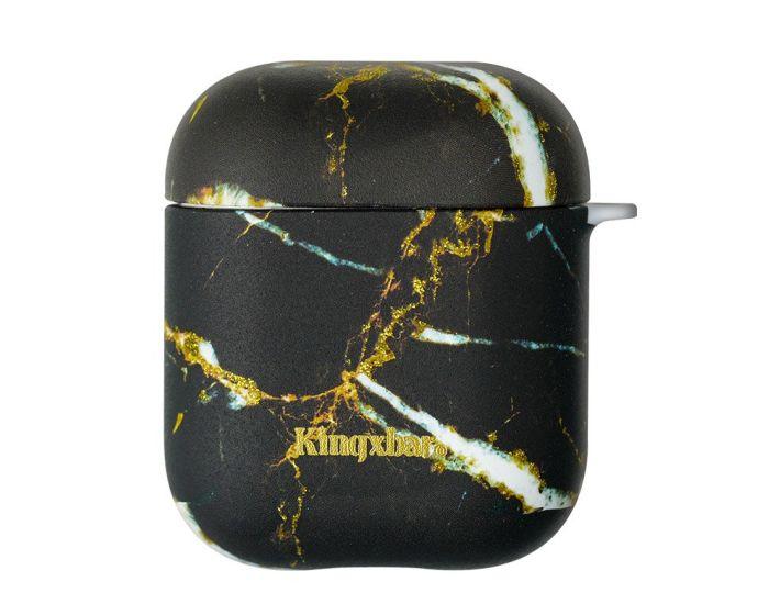 Kingxbar Silicone Protective Case για τα Apple AirPods - Black Marble