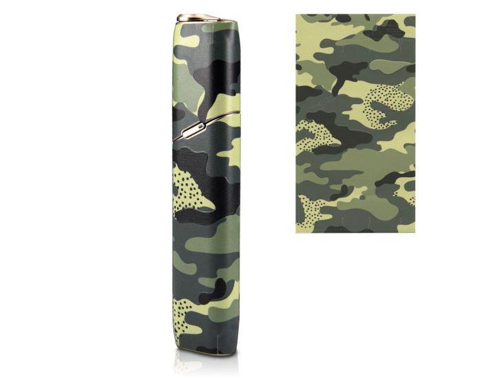 KWmobile Adhesive Decal Thin Protection Wrap (47201.02) Αυτοκόλλητο για το IQOS 3 Multi - Camo Green