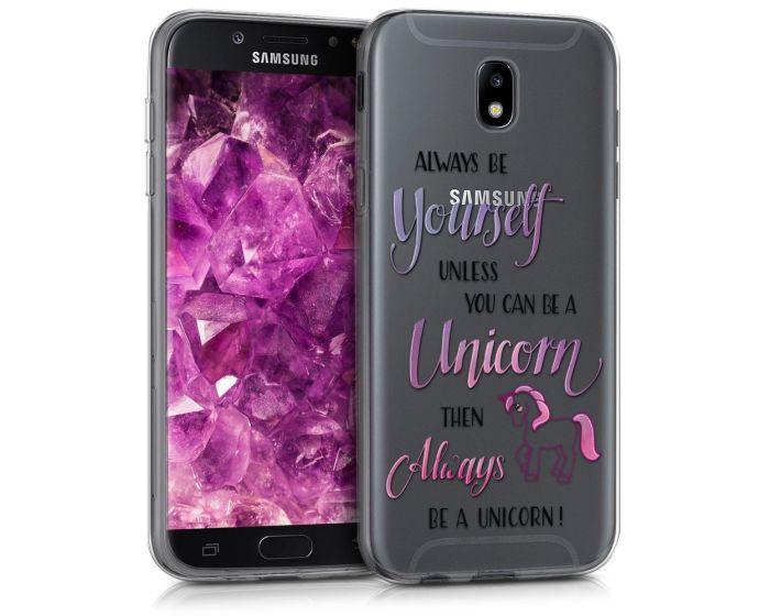 KWmobile Slim Fit Gel Case Always Be a Unicorn (42908.02) Θήκη Σιλικόνης Διάφανη (Samsung Galaxy J7 2017)