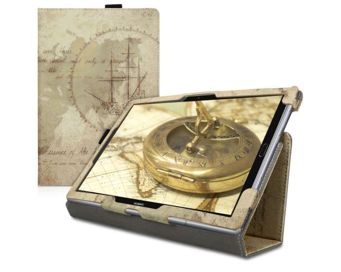 KWmobile Θήκη Folio Stand Case (45965.04) Travel Vintage (Huawei MediaPad M5 10.8'')