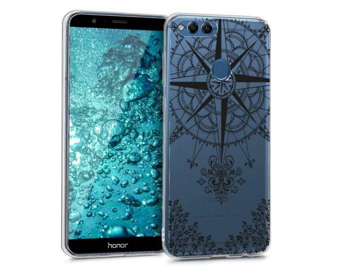 KWmobile Θήκη Σιλικόνης Slim Fit Silicone Case (43604.01) Baroque Compass (Huawei Honor 7X)
