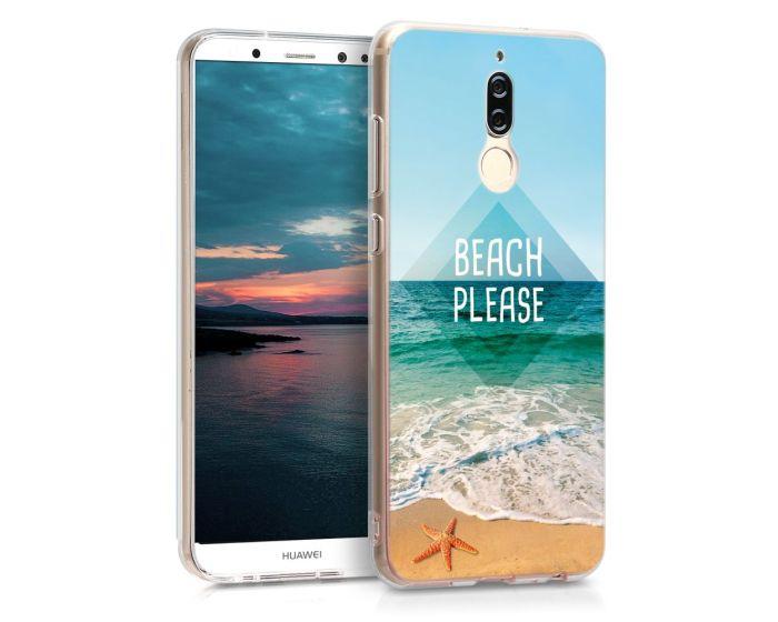KWmobile Θήκη Σιλικόνης Slim Fit Silicone Case (43292.14) Beach Please (Huawei Mate 10 Lite)